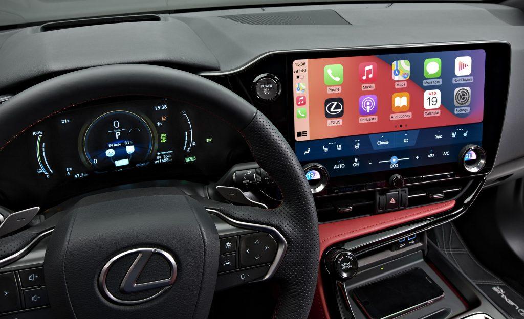Lexus NX 450h+ infotainment