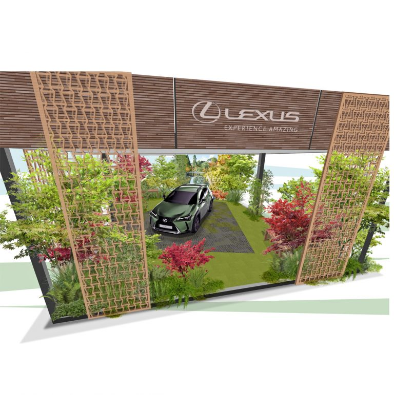 Lexus forest garden featuring the UX 300e all-electric SUV will be on display at BBC Gardeners' World Live at the NEC 26-29 August
