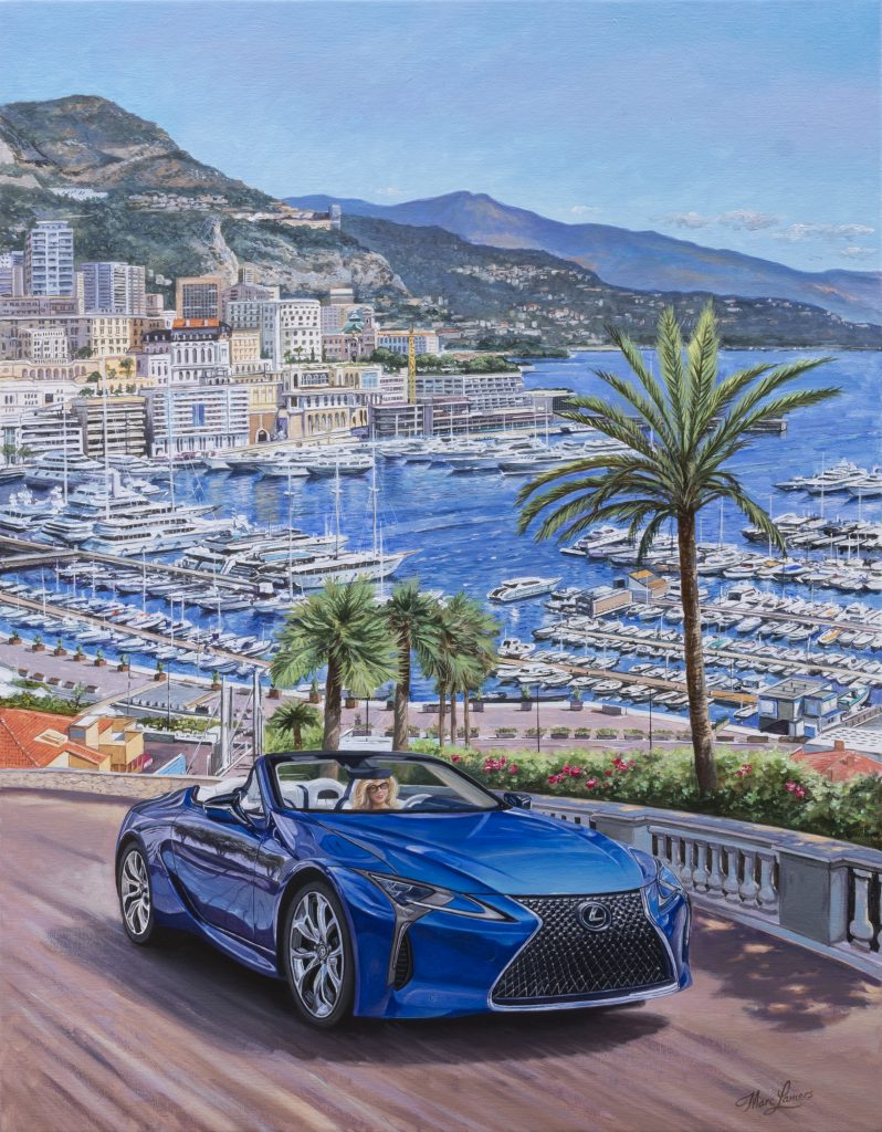 Lexus LC Convertible travel poster - the Netherlands