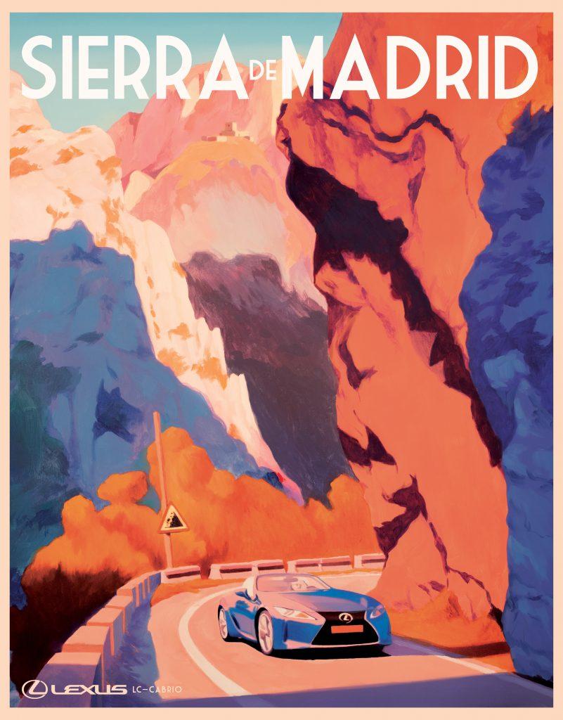 Lexus LC Convertible travel poster - Spain