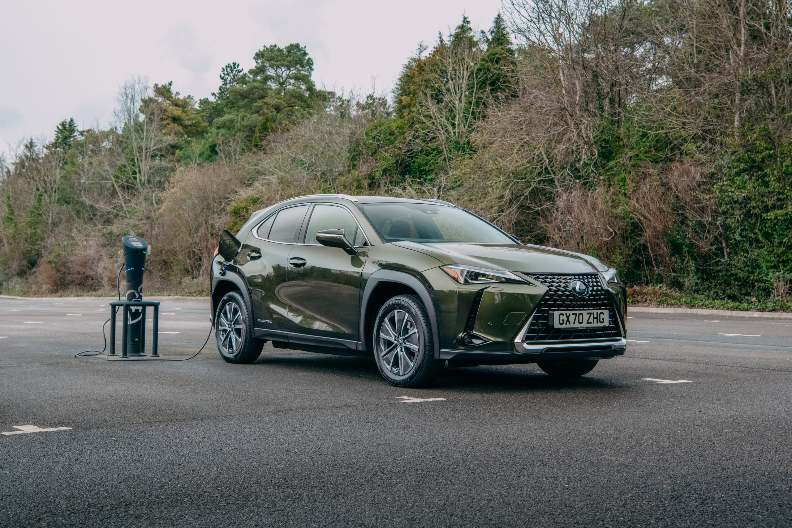 All-electric Lexus UX 300e being recharged