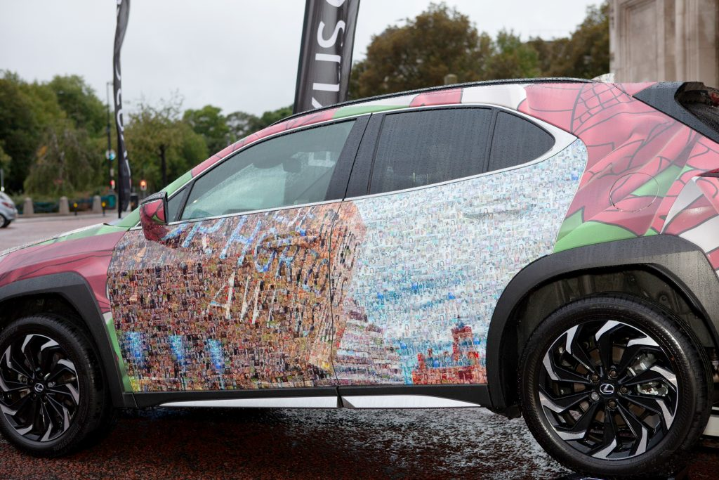 Lexus UX features Cardiff-inspired artwork by Nathan Wyburn
